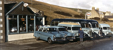 Bluestar garage in the 1950s